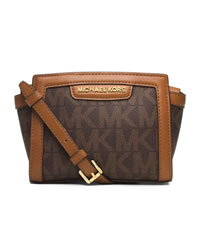 MICHAEL Michael Kors Mini Selma Messenger - BROWN - 32T4GLMC1B