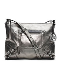 MICHAEL Michael Kors Medium Fallon Messenger - NICKEL - 30T4MLOM2M