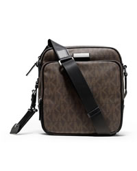 Michael Kors Men's Large Jet Set Flight Bag - BROWN - 33F2MMNM1B