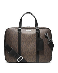 Michael Kors Men's Jet Set Slim Briefcase - BROWN - 33S4MMNA2B