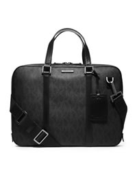 Michael Kors Men's Jet Set Slim Briefcase - BLACK - 33S4MMNA2B