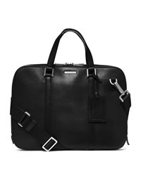 Michael Kors Warren Slim Leather Briefcase - BLACK - 33S4MWRA2L