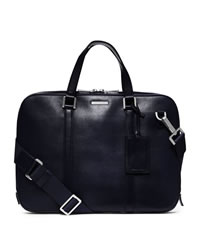 Michael Kors Warren Slim Leather Briefcase - NAVY - 33S4MWRA2L