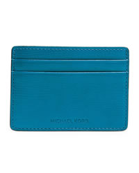 Michael Kors Men's Jet Set Card Case - DARK BLUE - 39S4MMND1L