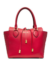 Michael Kors Miranda Quilted Tote - SCARLET - 31H3MMQT6L