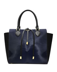 Michael Kors Large Miranda Calf-Hair Tote - NAVY - 31H3MMDT7H