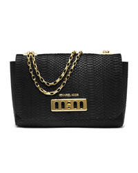 Michael Kors Vivian Shoulder Flap Bag - BLACK - 31T4MVVF3Z