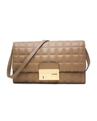 Michael Kors Gia Quilted Clutch - DESERT - 31T4MGAC3L