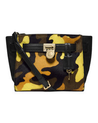 MICHAEL Michael Kors Small Hamilton Camo Calf-Hair Messenger - ACID LEMON - 30F4GHXM2H