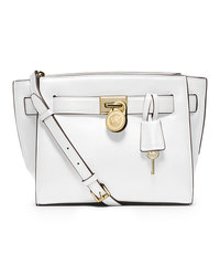 MICHAEL Michael Kors Small Hamilton Travel Messenger - OPTIC WHITE - 30F4GHXM2L