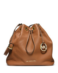 MICHAEL Michael Kors Large Jules Drawstring Shoulder Bag - LUGGAGE - 30F4GJLL3L