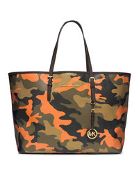 MICHAEL Michael Kors Medium Jet Set Camo Travel Tote - POPPY - 30F4GTVT2R