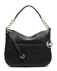 MICHAEL Michael Kors Large Shelley Convertible Shoulder Bag - BLACK - 30F4GYSL3L
