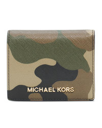 MICHAEL Michael Kors Jet Set Camo Travel Flap Card Holder - DUFFLE - 32F4GTVF2R