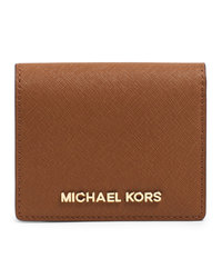 MICHAEL Michael Kors Jet Set Travel Flap Card Holder - LUGGAGE - 32T4GTVF2L