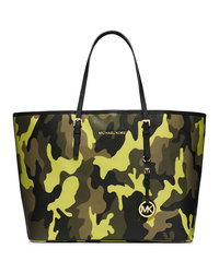 MICHAEL Michael Kors Medium Jet Set Camo Travel Tote - ACID LEMON - 30F4GTVT2R