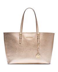 MICHAEL Michael Kors Medium Jet Set Travel Tote - PALE GOLD - 30F4GTVT6M