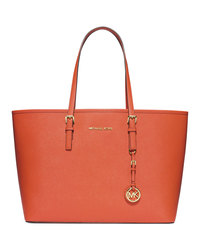 MICHAEL Michael Kors Medium Jet Set Travel Tote - ORANGE - 30S3GTVT6L