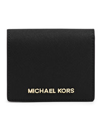 MICHAEL Michael Kors Jet Set Travel Flap Card Holder - BLACK - 32T4GTVF2L