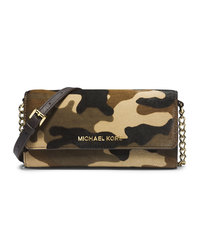 MICHAEL Michael Kors Jet Set Camo Travel Wallet On A Chain - DUFFLE - 32F4GTVC9H