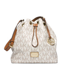 MICHAEL Michael Kors Large Jules Drawstring Shoulder Bag - VANILLA - 30F4GJLL3B