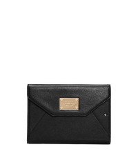Saffiano Leather Mini iPad Clutch - BLACK - SHD136ALUS50