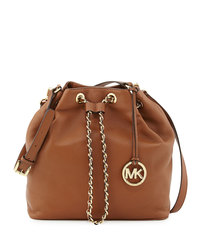 MICHAEL Michael Kors Large Frankie Drawstring Shoulder Bag - LUGGAGE - 30F4GFKL3L