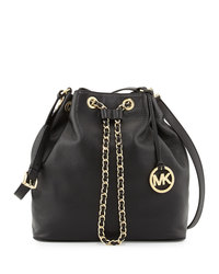 MICHAEL Michael Kors Large Frankie Drawstring Shoulder Bag - BLACK - 30F4GFKL3L