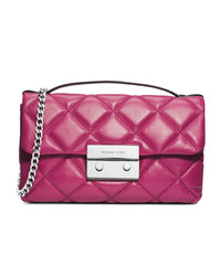 MICHAEL Michael Kors Small Sloan Quilted Messenger - DEEP PINK - 30F4SSLM1N