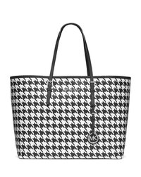 MICHAEL Michael Kors Medium Jet Set Printed Travel Tote - BLACK/WHITE - 30F4STVT2U