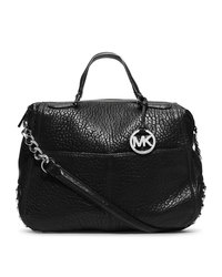 MICHAEL Michael Kors Large Shelley Studded Convertible Satchel - BLACK - 30F4SYSS3L