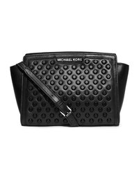 MICHAEL Michael Kors Medium Selma Studded Messenger - BLACK - 30F4TZSM2L