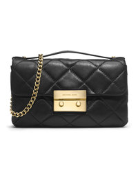 MICHAEL Michael Kors Small Sloan Quilted Messenger - BLACK - 30H3GSLM1N