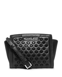 MICHAEL Michael Kors Mini Selma Studded Messenger - BLACK - 32F4TSMC1L