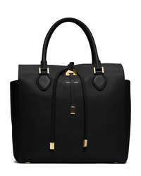Michael Kors Large Miranda Leather Tote - BLACK - 31H3MMDT7L