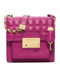 Michael Kors Small Gia Quilted Crossbody - FUCHSIA - 31F4GGAX2L