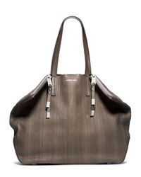 Michael Kors Large Harlow Shoulder Bag - ELEPHANT - 31S4MMZT8Z