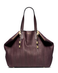 Michael Kors Large Harlow Shoulder Bag - BORDEAUX - 31S4MMZT8Z
