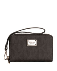 MICHAEL Michael Kors Essential Zip Wallet - GREY MONOGRAM - SFD06211ALUS