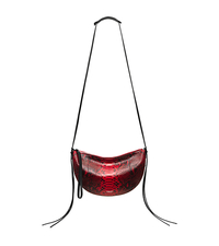 Sedona Medium Python Shoulder Bag - CRIMSON - 31S6PSDL6Y