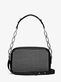 Julie Small Studded French Calf Camera Bag - BLACK - 31F16PJUL1