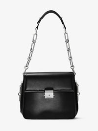 Mia French Calf Envelope Shoulder Bag - BLACK - 31F6MMAL8L
