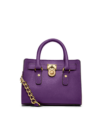 Hamilton Saffiano Leather Mini Messenger - VIOLET - 32T2GHMM1Y