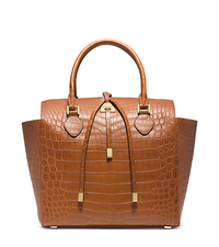 Miranda Crocodile Large Tote - LUGGAGE - 31F3GMDT7R