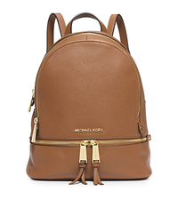 Rhea Small Leather Backpack - ACORN - 30S5GEZB1L