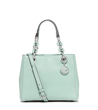 Cynthia Small Saffiano Leather Satchel - CELADON - 30S5SCYS1L