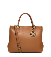 Anabelle Medium Leather Tote - ACORN - 30S6GAPT2L