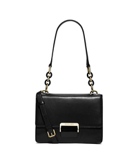 Cynthia Small Leather Shoulder Bag - BLACK - 30S6GCYL5L