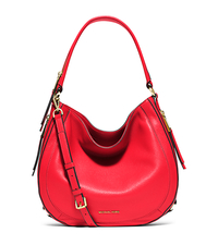 Julia Medium Leather Shoulder Bag - CORAL - 30S6GJQL2L