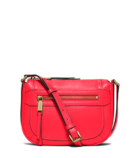 Julia Medium Leather Messenger - CORAL - 30S6GJQM2L